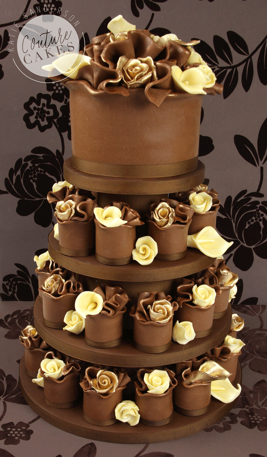 Serves 30 mini cakes & 20 portion top tier, Price as pictured £404
