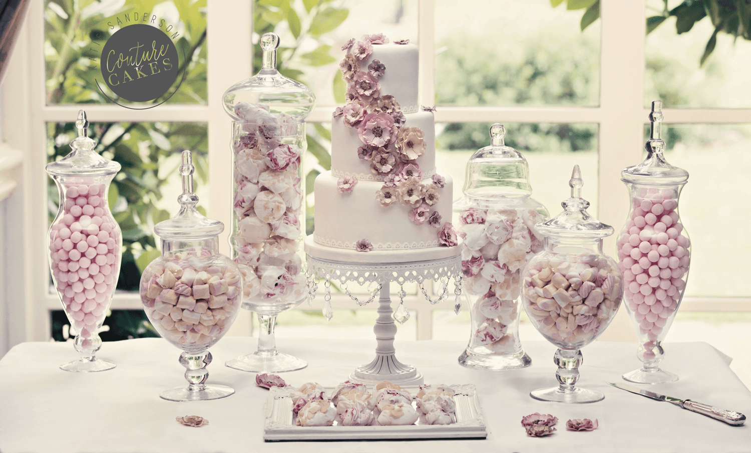 cascading-sugar-blossom-dessert-table