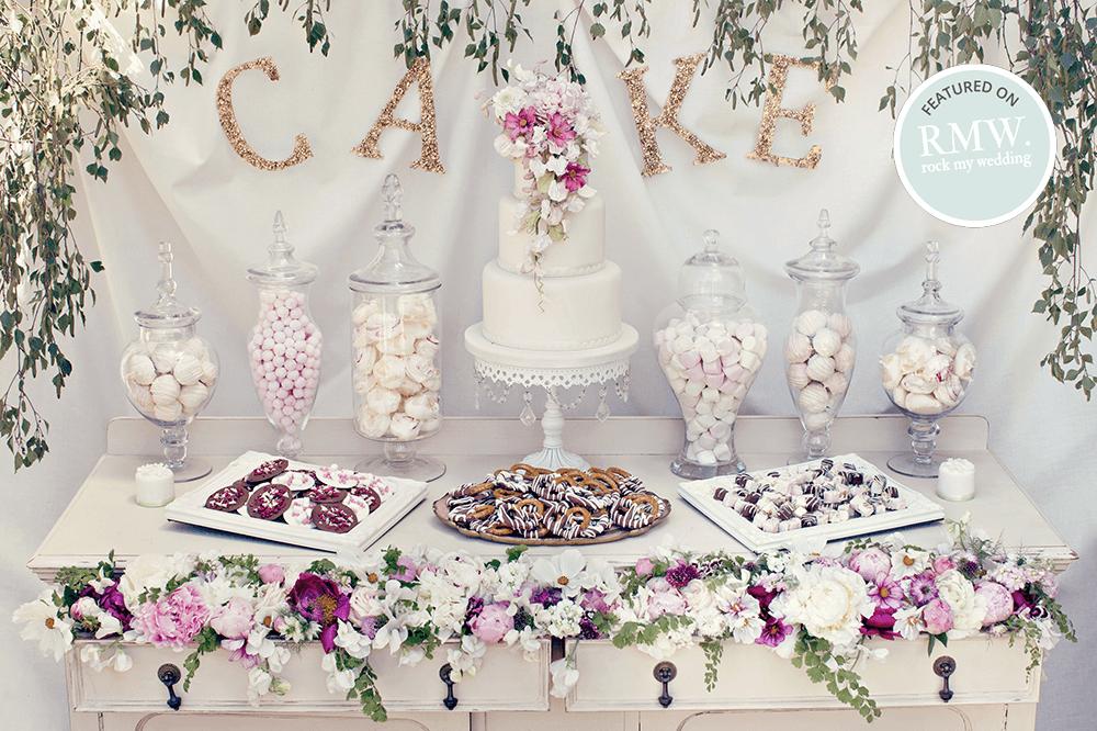 Vintage-botanical-dessert-table