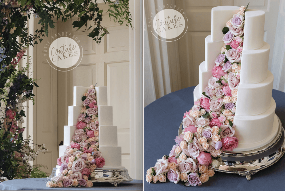 Cake £495 plus estimated £120 flowers. Phottography by Sarah Vivienne.