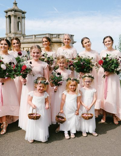 Bridal party normanton church rutland