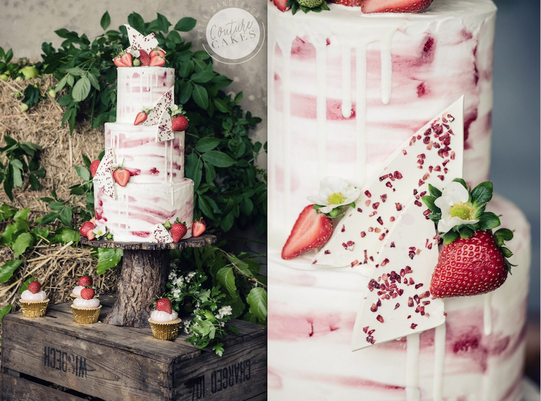 Strawberry Chocolate Shard Cake, Serves 100 portions Price category C, £525. Photography by Sarah Vivienne.