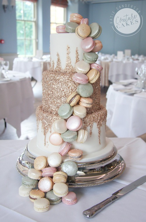 Cascading Sequins and Macaroon Cake, Serves 80, £555