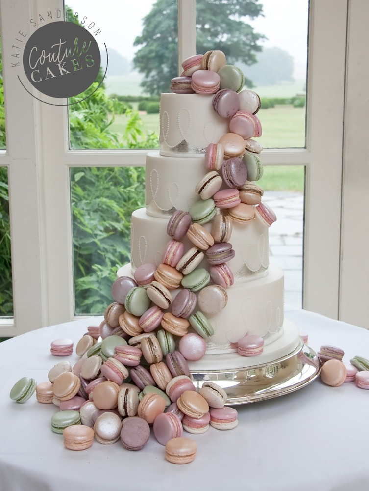 Silver Leaf & Macaroon Cake, Serves 80, Price category C £555