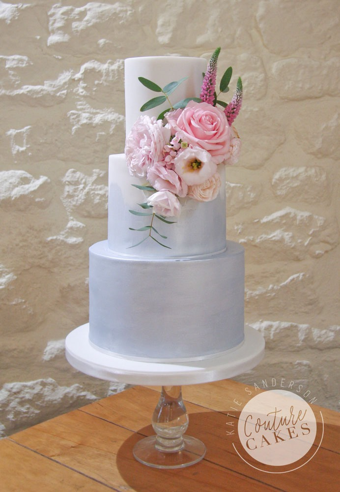 Ombre Shimmer Wedding Cake, Serves 80, Price Category B, £395 excl fresh flowers