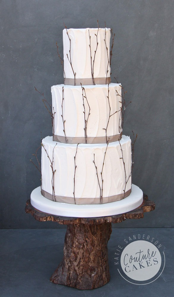 Rustic Twigs Wedding Cake, Serves 80, Price Category B, £425